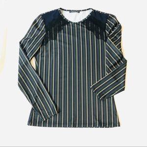 Zara Striped Lace shirt